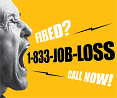 Fired? 1-833-JOB-LOSS
